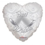 "BEST WISHES BALLOON 18""   19237-18"